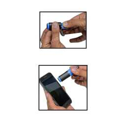 Bottle Shape Keychain with Stylus and Screen Cleaner