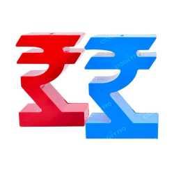 Rupee Symbol Style Money Bank